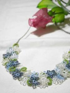 花畑ネックレス ブルー