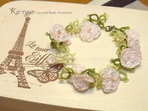 けしの花のブレスレット ピンク