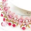 アンティーク風ネックレス ピンク