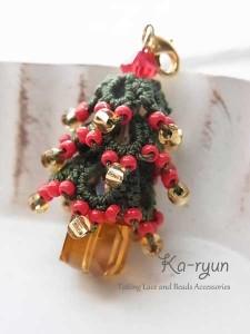 クリスマスツリーのチャーム