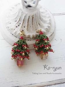 クリスマスツリーチャーム3個セット