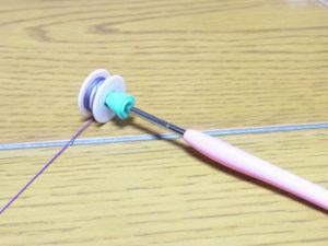 かぎ針でボビン糸巻き