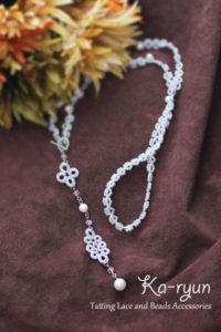 ラメ糸のネックレス・シルバー