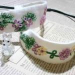 タティング刺繍のヘアバンド