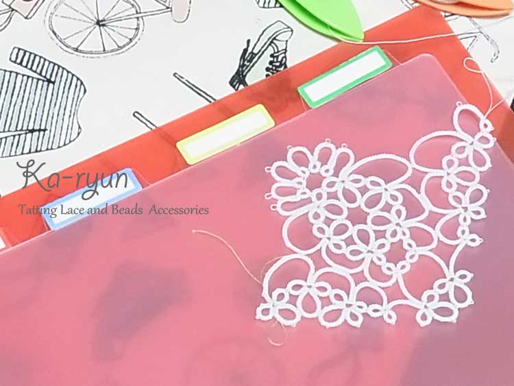 モバイルタティングと梅の花