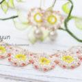 花飾りのネックレス&ネックレス